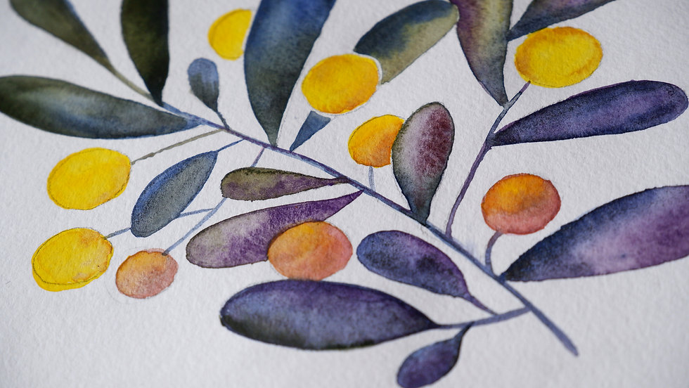 elenaartpages-yellow-berries-handmade-wa