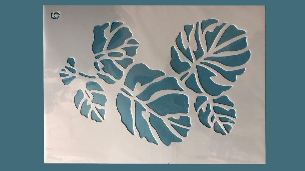 Large Stencil Large Leaves 06
