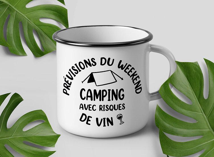 Décalque - Prévisions du weekend : Camping avec risques de vin