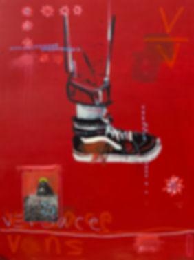 VV, 91x122cm, mixed media on canvas. 201