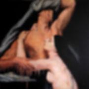 Melt 1.1, 100x100cm, oil paint on canvas