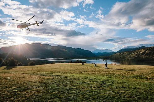 Helicopter Wedding Photos Wanaka