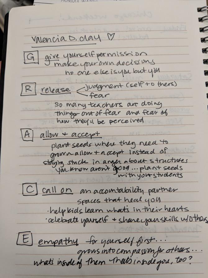 teacher self-care conference