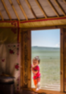 蒙古草原的孩子