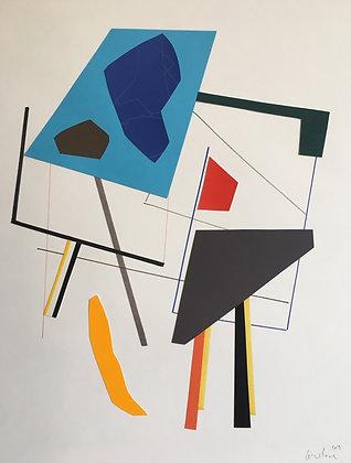 collage sur papier 40X50