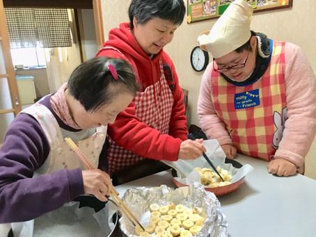 バナナプリン風ケーキ