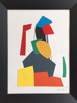 collage sur papier 18X24