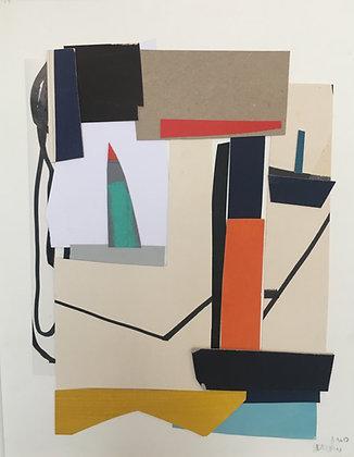 collage sur papier 30X40