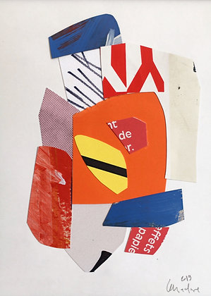 collage sur papier 18X24