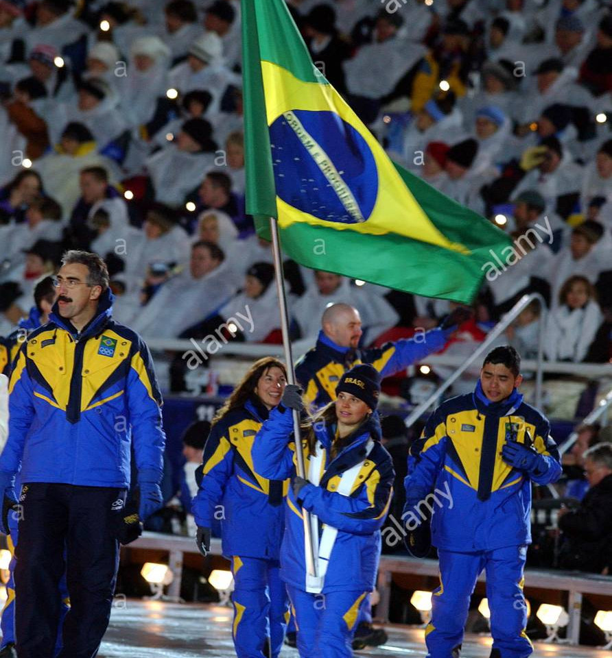 The Brazilian Delegation at the Olympic Winter Games Opening Ceremony