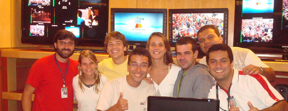 With the SPORTV Team during the transmissions of the Vancouver 2010 Olympic Winter Games