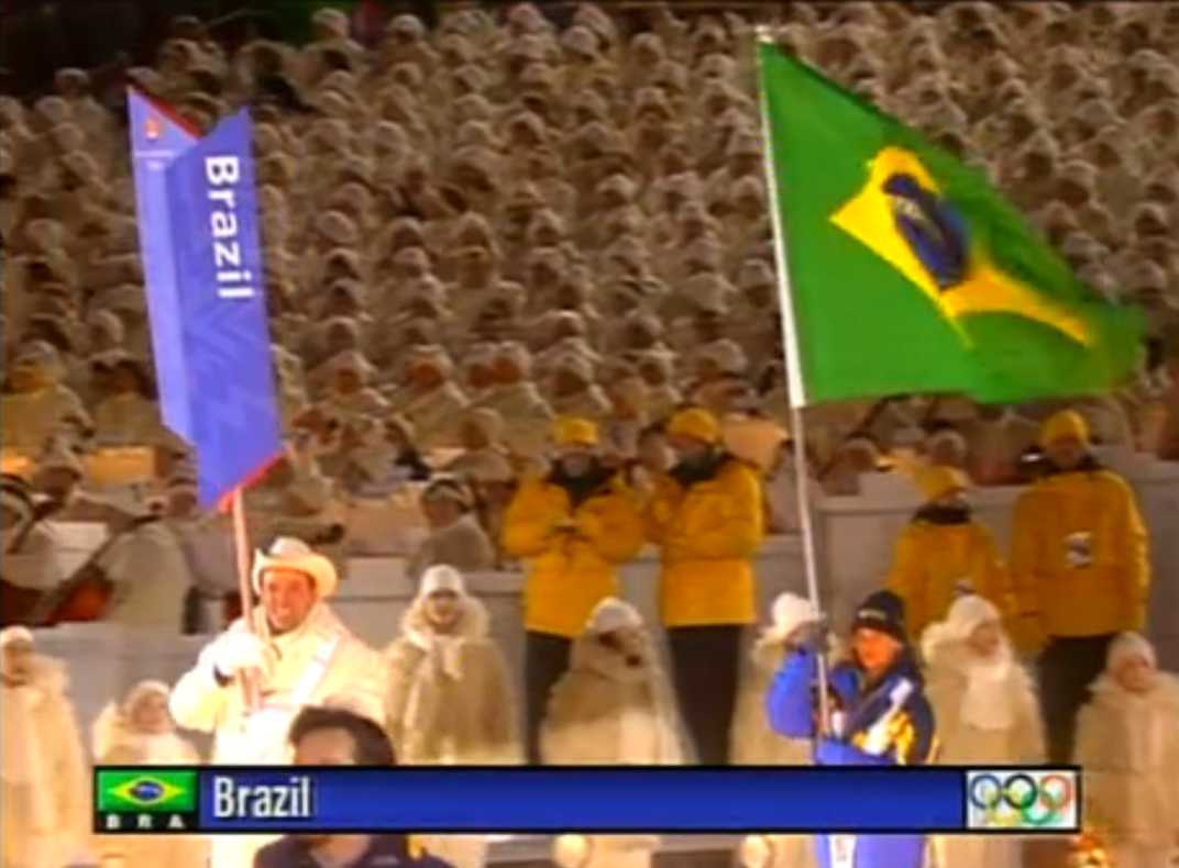 The honor of being chosen as the flag bearer of the Brazilian Delegation in the Opening Ceremony of the Olympic Games
