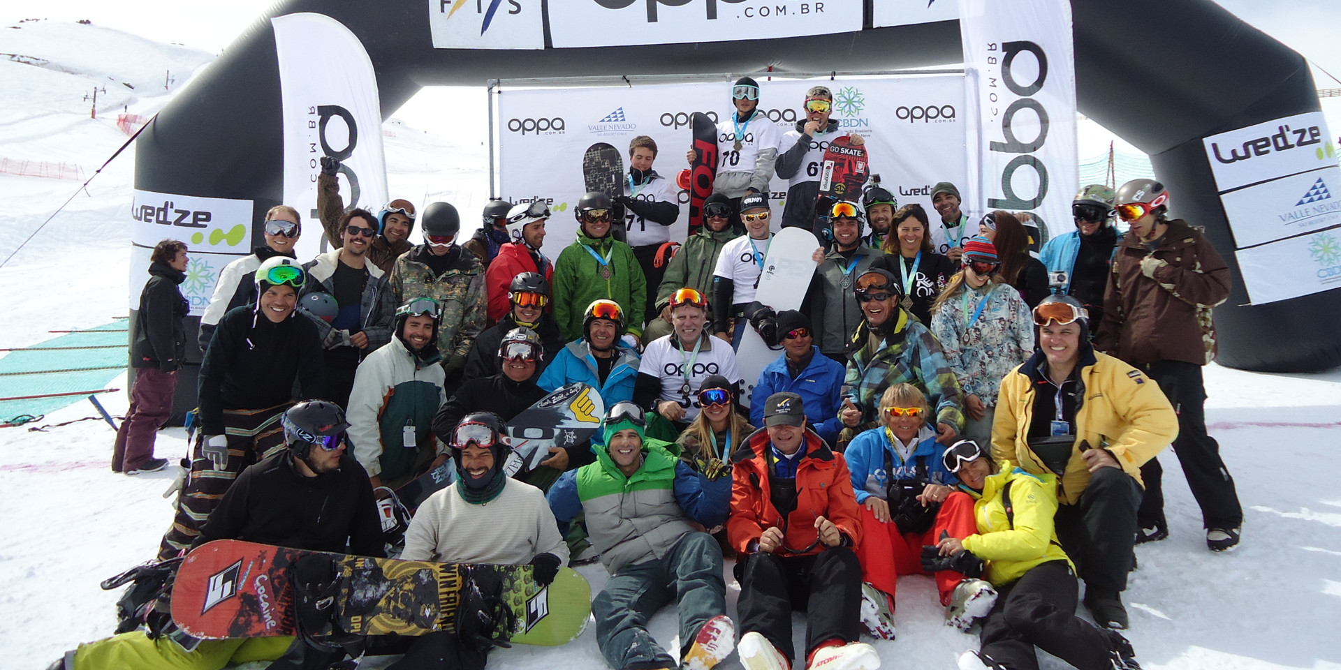 Working for the Snowboard South American Continental Cups and Brazilian National Championship Organizing Committee