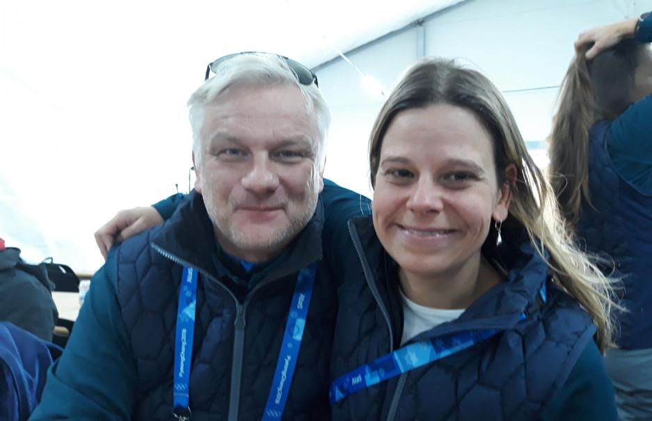 With my dear colleague and friend Björn Bjorklund (former Swedish Alpine Skier)