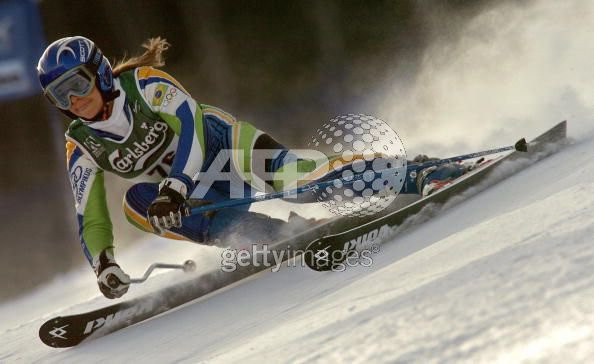 Racing the Giant Slalom at the Bormio 2005 FIS Alpine Ski World Championships