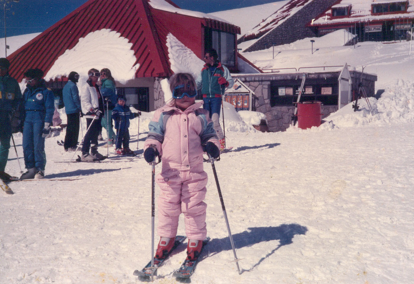 My first contact with snow and skiing