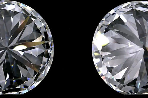 Superbe paire de diamants brillants ronds D VS2 certificat GIA