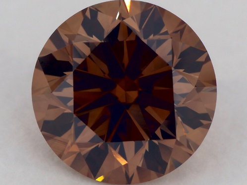 Cognac color diamond 2 carats GIA certificate