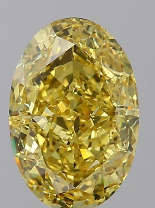 3 carat yellow diamond fancy vivid yellow diamond GIA certificate