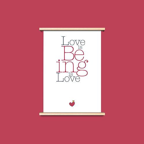 Love is Being - שלושה פרינטים לעיצוב הבית