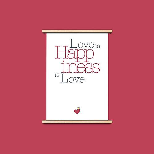 Love is Happiness - שלושה פרינטים לעיצוב הבית