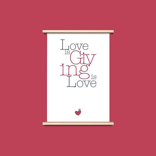 Love is Giving - שלושה פרינטים לעיצוב הבית