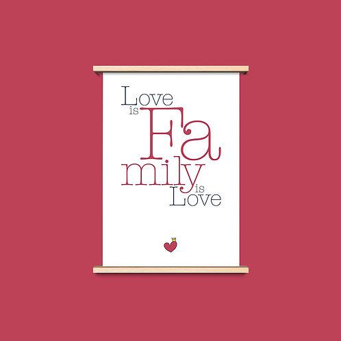 Love is Family - שלושה פרינטים לעיצוב הבית