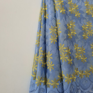 Light Blue and Yellow Cotton