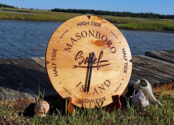 Golden Pecan Tide Clock