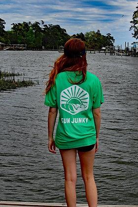 New Green Sun Junky Soft Tee