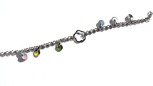 Bracelet White Gold 18ct Enamel