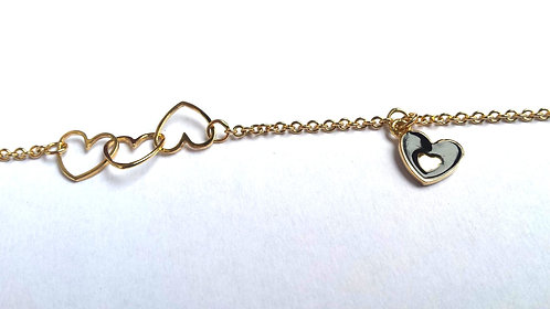"Kid Bracelet ""Double Hearts"""