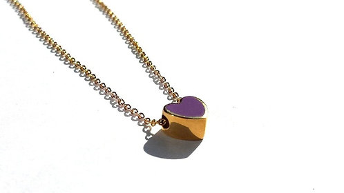 "Necklace ""Violet Heart"""