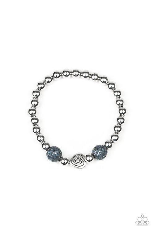 Starlight Shimmer Beaded Bracelet - Black