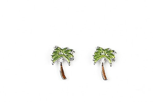 Starlight Shimmer Post Earrings - Palm Tree