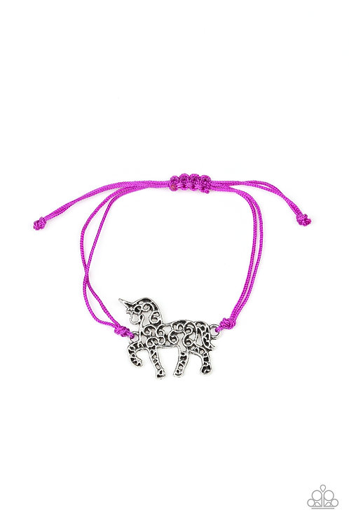 Starlet Shimmer String Bracelet - Purple Unicorn