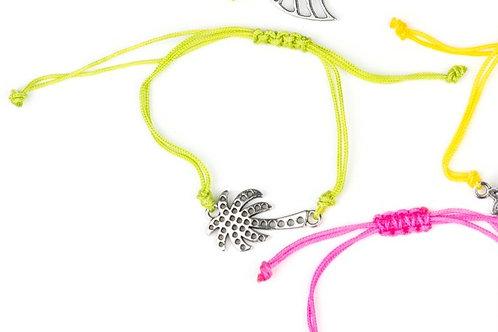 Starlet Shimmer String Bracelet - Lime Palm Tree