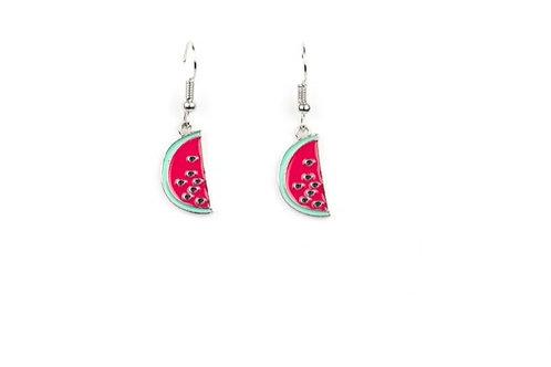 Starlight Shimmer Dangling Earrings - Watermelon