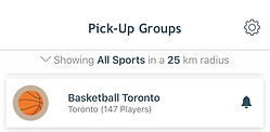 sports pickup groups