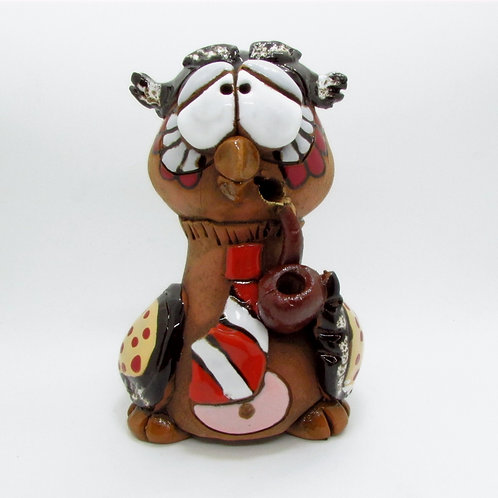 Ceramic Owl Incense Cone Burner