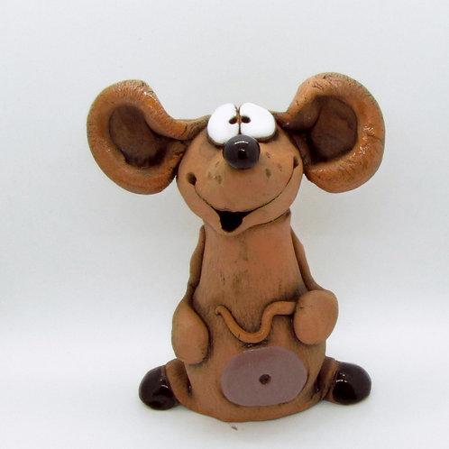 Ceramic Mouse Figurine