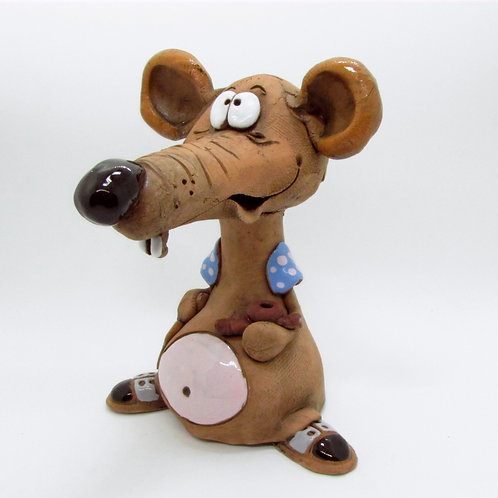 Ceramic Cheeky  Rat Incense Cone Burner