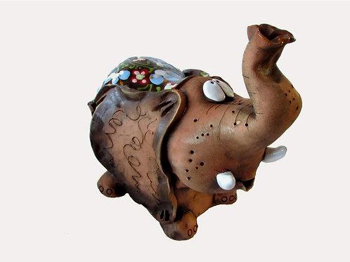 Ceramic Elephant  Money Bank