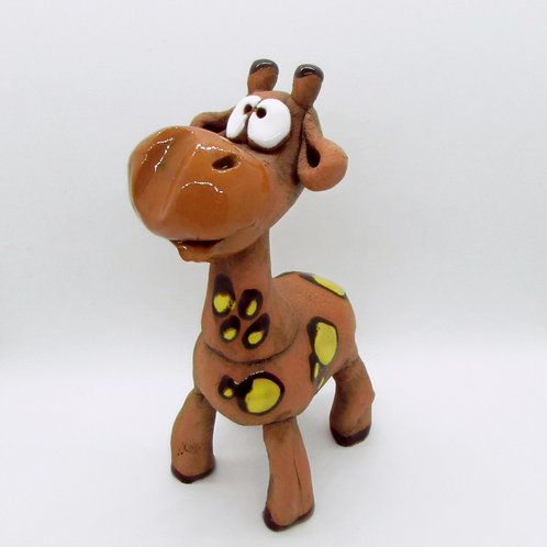 Ceramic Giraffe Figurine