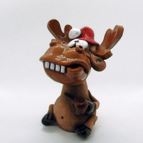 Ceramic Moose Incense Cone Burner