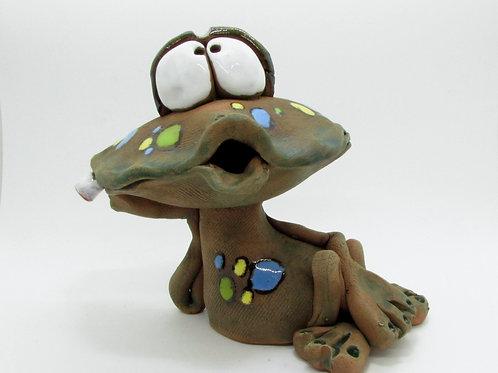 Ceramic Frog Incense Cone Burner
