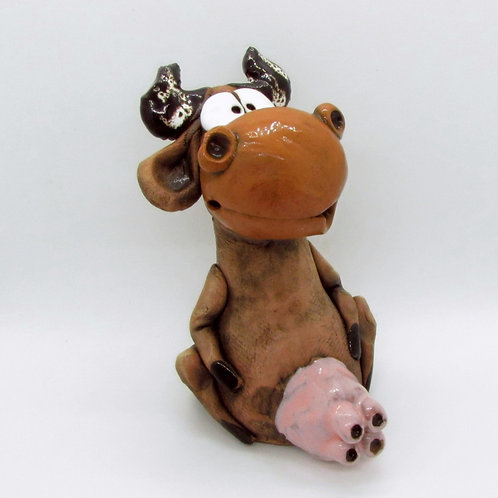 Ceramic Cow Figurine