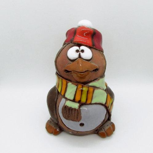 Ceramic Penguin Figurine