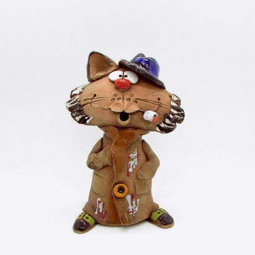 Ceramic Top Cat Incense Burner