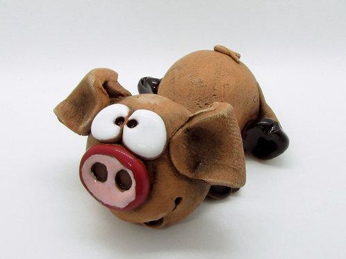 Ceramic Little Piglet Figurine